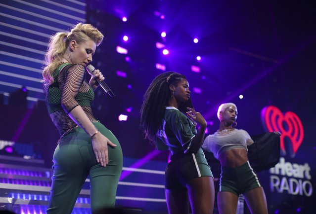 Iggy Azalea during her closing set at the Jingle Ball Monday night. KDWB's Jingle Ball landed for it's annual stop at Xcel Energy Center in St. Paul Monday night, December 8, 2014. (Photo by Jeff Wheeler/Star Tribune)