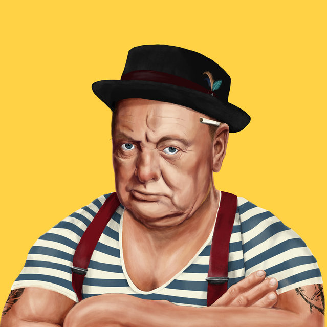 Hipstory: Fashionista Winston Churchill. (Photo by Amti Shimoni/Caters News)