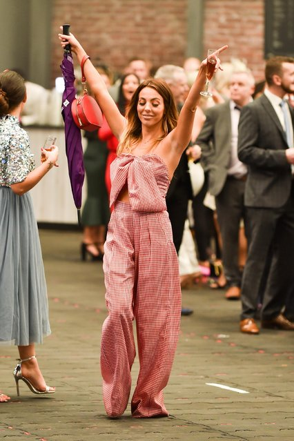 Racegoers during Ladies Day at the Grand National Festival at Aintree Racecourse on April 13, 2018 in Liverpool, England. (Photo by Flynet Pictures)