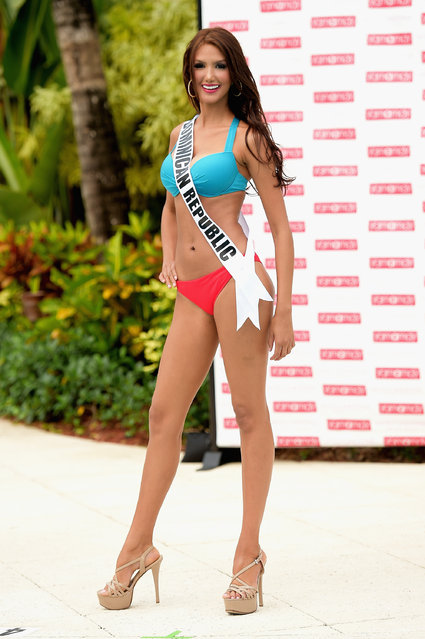 Miss Dominican Republic  Kimberly Castillo participates in Miss Universe – Yamamay Swimsuit Runway Show at Trump National Doral on January 14, 2015 in Doral, Florida. (Photo by Gustavo Caballero/Getty Images)