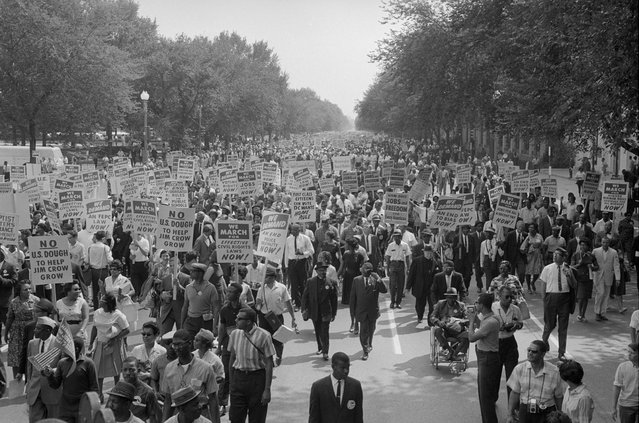 A man in a wheelchair during the civil rights march on Washington D.C., August 28, 1963. (Photo by Reuters/Library of Congress)