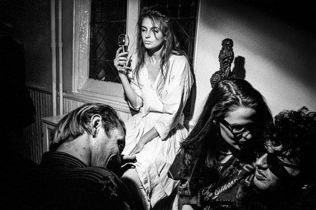 Limelight (Susie Streetwalker, Ellen Kennedy, Nick Egan and Johnny Dynel), 1983. (Photo by Ken Schles)