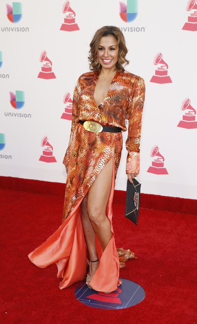 Singer Maia arrives at the 17th Annual Latin Grammy Awards in Las Vegas, Nevada, U.S., November 17, 2016. (Photo by Steve Marcus/Reuters)