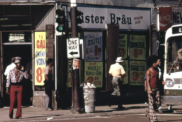 Street scene on 47th Street, May 1974. (Photo by John H. White/NARA via The Atlantic)