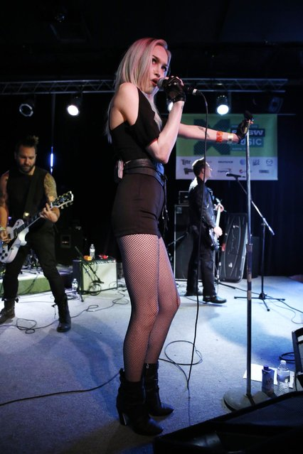 Ivy Levan is seen on the Universal Music Group stage at the SXSW 2015 Experience, Friday, March 20, 2015, in Austin, Texas. (Photo by Jack Dempsey/Invision for Universal Music Group/AP Images)
