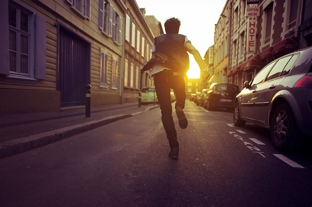 """Run Away Faster"". (Théo Gosselin)"