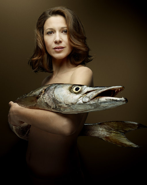 """""""Fish Love"""" Project by Photographer Denis Rouvre. Caroline Ducey. (Photo by Denis Rouvre)"""