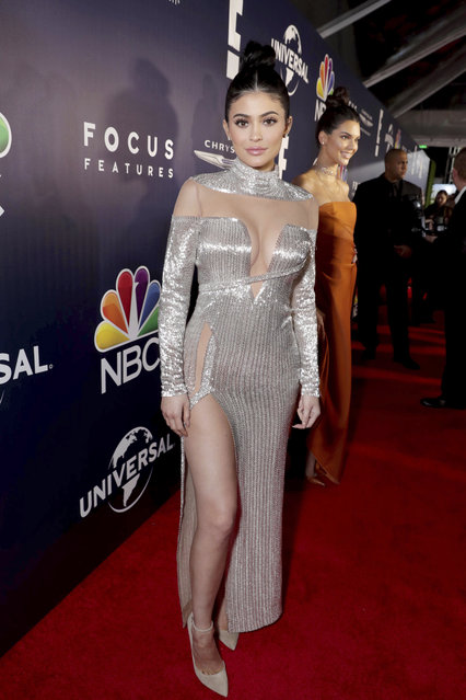 Kylie Jenner seen at Universal, NBC, Focus Features, E! Entertainment Golden Globes After Party Sponsored by Chrysler on Sunday, January 8, 2017, in Beverly Hills, Calif. (Photo by Eric Charbonneau/Invision for Focus Features/AP Images)