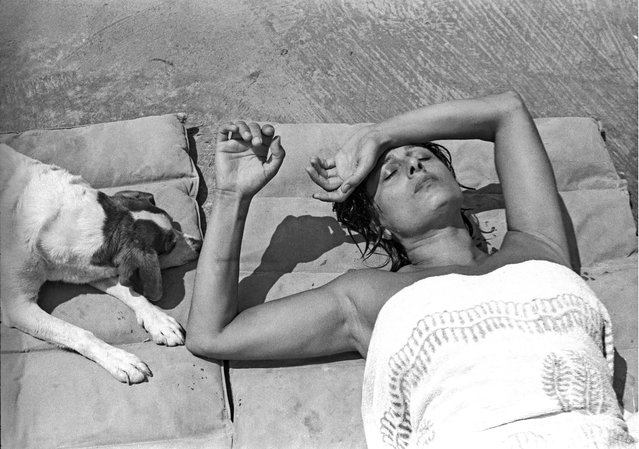 The actor Anna Magnani in her villa in San Felice Circeo, south of Rome, in 1955. (Photo by Paolo Di Paolo/National Museum of 21st Century Arts)