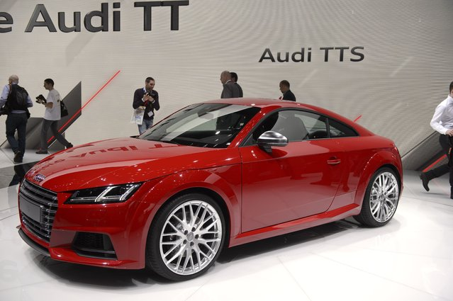 The new Audi TTS  is on display at the 84.  Geneva International Motor Show in Geneva, Switzerland, Tuesday, March 4, 2014. (Photo by Martial Trezzini/AP Photo/Keystone)