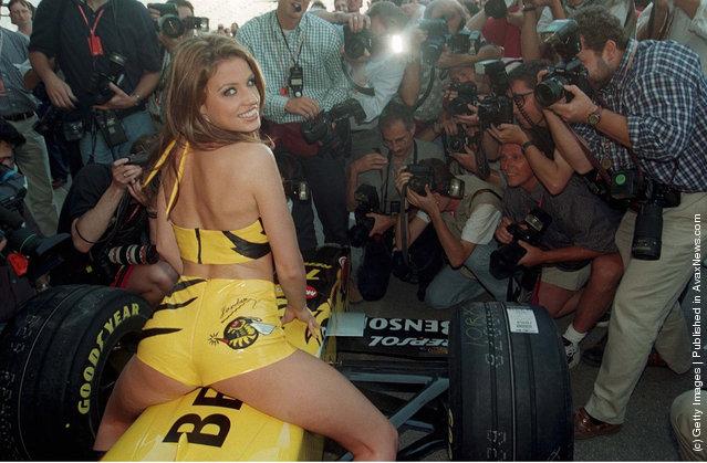 GP von SPANIEN 1998, Barcelona 05.98, JORDAN GIRL/JORDAN MODEL KATHI PRICE