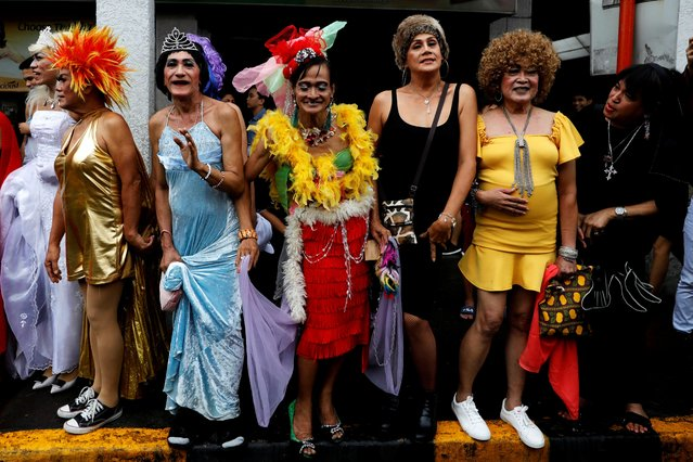 """Members of Manila's """"Golden Gays"""", a group of gay senior citizens participate in the Metro Manila Pride parade in Marikina City, Philippines, June 29, 2019. (Photo by Eloisa Lopez/Reuters)"""