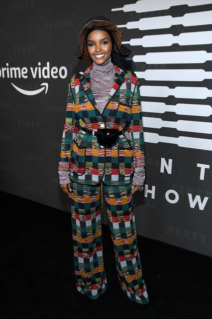 Halima Aden attends Savage X Fenty Show Presented By Amazon Prime Video – Arrivals at Barclays Center on September 10, 2019 in Brooklyn, New York. (Photo by Kevin Mazur/Getty Images for Savage X Fenty Show Presented by Amazon Prime Video)