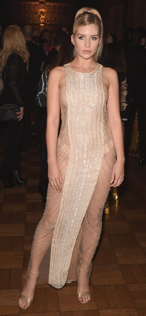Lottie Moss attends JULIEN MACDONALD presenting Julien X Gabriela Spring/Summer 2020 fashion show during London Fashion Week at Southwark Cathedral on September 16, 2019 in London, England. (Photo by David M. Benett/Getty Images for Julien Macdonald)