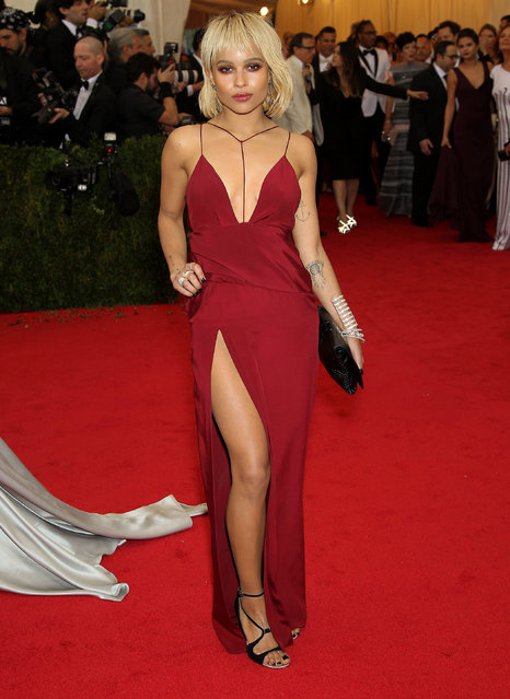 The 2014 Charles James: Beyond Fashion Costume Institute Gala – Arrivals at The Metropolitan Museum of Art; Zoe Kravitz. (Photo by Marion Curtis/Starpix)