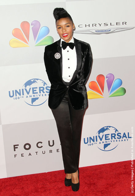 Singer Janelle Monae arrives at NBC Universal's 69th Annual Golden Globe Awards After Party