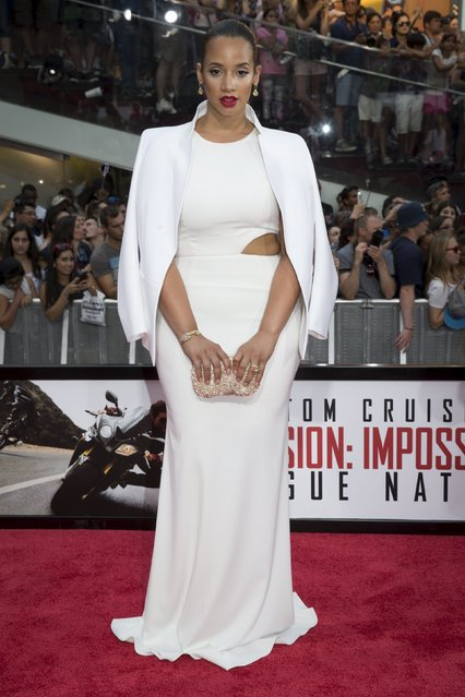 """Actress Dascha Polanco poses on the red carpet for a screening of the film """"Mission Impossible: Rogue Nation"""" in New York July 27, 2015. (Photo by Brendan McDermid/Reuters)"""