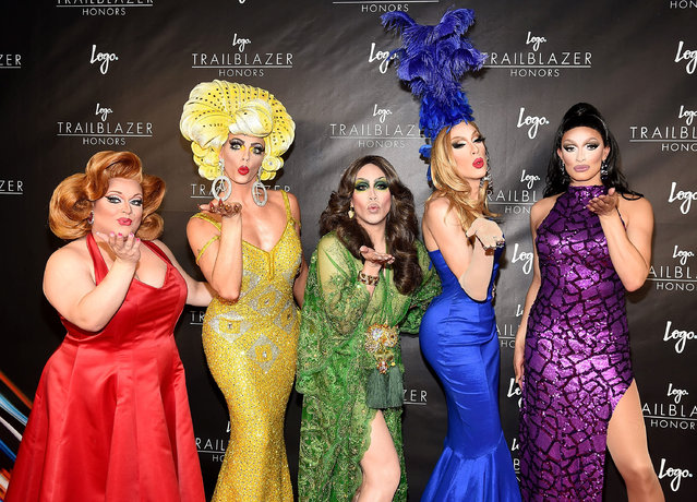 RuPaul's Drag Race All-Stars Ginger Minj, Alyssa Edwards, Phi Phi O'Hara, Alaska Thunderfvck and Tatiana attend 2016 Logo's Trailblazer Honors at Cathedral of St. John the Divine on June 23, 2016 in New York City. (Photo by Gary Gershoff/Getty Images for Logo)
