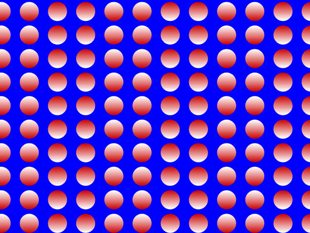 Columns appear to move up and down. (Photo by Akiyoshi Kitaoka/Caters News)