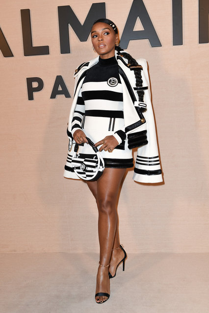 Janelle Monae attends the Balmain show as part of the Paris Fashion Week Womenswear Fall/Winter 2020/2021 on February 28, 2020 in Paris, France. (Photo by Jacopo Raule/Getty Images)