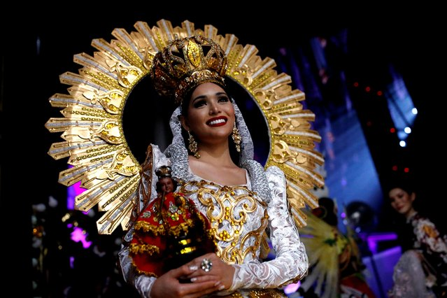 Philippines's Jess Labares poses at the final show of the Miss International Queen 2020 transgender beauty pageant in Pattaya, Thailand on March 7, 2020. (Photo by Soe Zeya Tun/Reuters)