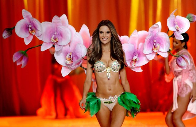 Alessandra Ambrosio walks the runway during the 2012 Victoria's Secret Fashion Show in New York. (Photo by Charles Sykes/Evan Agostini)