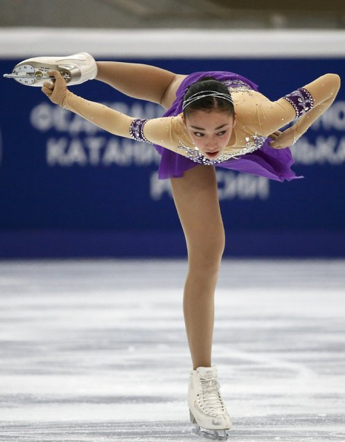 Japan's Rika Hongo performs during the ladies short program at the Rostelecom Cup ISU Grand Prix of Figure Skating in Moscow November 14, 2014. (Photo by Grigory Dukor/Reuters)
