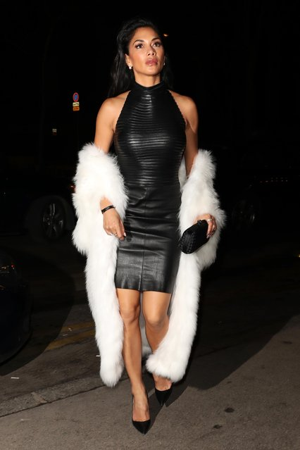 Nicole Scherzinger out for dinner in Paris, France durind the Paris Fashion Week on March 3, 2018. (Photo by Beretta/Sims/Rex Features/Shutterstock)