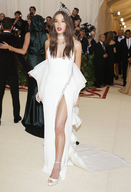 Hailee Steinfeld attends The Metropolitan Museum of Art's Costume Institute benefit gala celebrating the opening of the Heavenly Bodies: Fashion and the Catholic Imagination exhibition on Monday, May 7, 2018, in New York. (Photo by Carlo Allegri/Reuters)