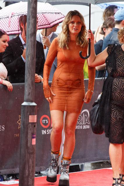 "Tove Lo wears see-through ""uterus"" dress to ARIA Awards, held at The Star Sydney, Australia on November 23, 2016. (Photo by Brandon Voight/Splash News)"