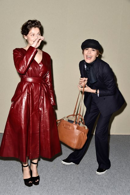 Laetitia Casta and Ines de La Fressange attend the Nina Ricci show as part of the Paris Fashion Week Womenswear Fall/Winter 2016/2017 on March 5, 2016 in Paris, France. (Photo by Pascal Le Segretain/Getty Images)