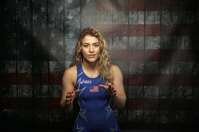 Wrestler Helen Maroulis poses for a portrait at the U.S. Olympic Committee Media Summit in Beverly Hills, Los Angeles, California March 9, 2016. (Photo by Lucy Nicholson/Reuters)