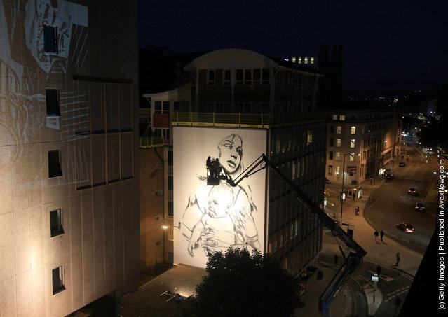 UK's largest graffitti street art project in Bristol
