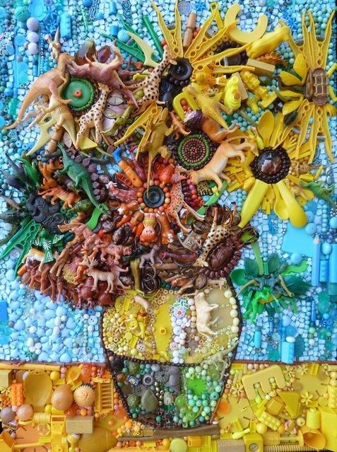 Sunflowers (Van Gogh).  (Photo by Jane Perkins/Caters News)