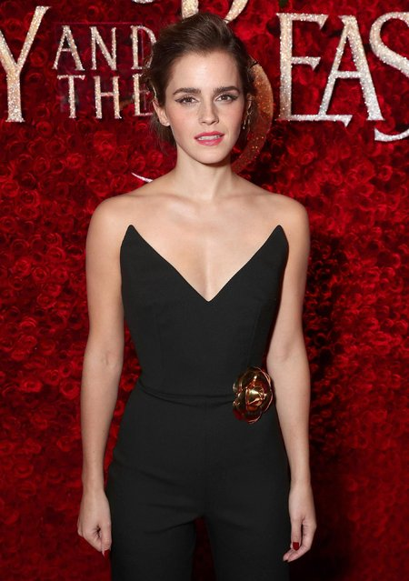 "Emma Watson attends the premiere of Disney's ""Beauty And The Beast"" at El Capitan Theatre on March 2, 2017 in Los Angeles, California. (Photo by Todd Williamson/Getty Images)"