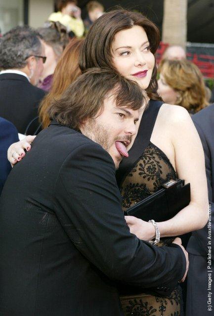 Actor Jack Blackand his girlfriend Laura Kightlinger