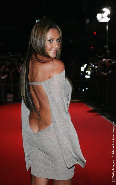 Singer Michelle Heaton arrives at the 2006 World Music Awards at Earls Court on November 15, 2006 in London