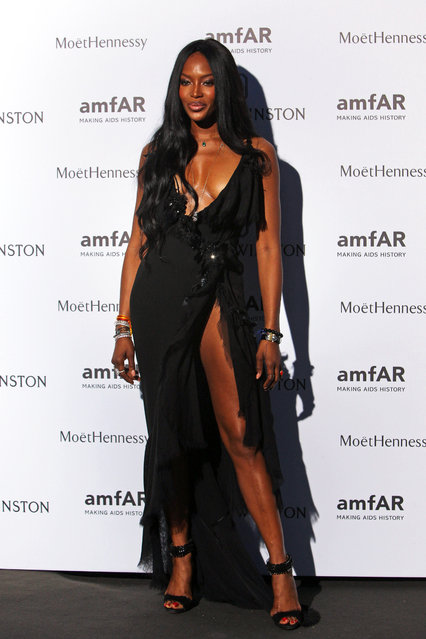Naomi Campbell arrives for the AMFAR dinner, Sunday July 5 2015 in Paris, France. (Photo by Rafael Yaghobzadeh/AP Photo)