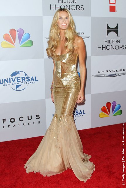 Model Elle Macpherson arrives at NBC Universal's 69th Annual Golden Globe Awards After Party