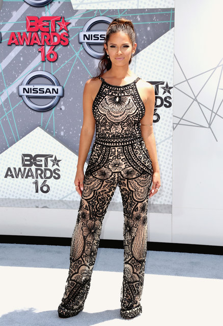 TV personality Rocsi Diaz attends the 2016 BET Awards at the Microsoft Theater on June 26, 2016 in Los Angeles, California. (Photo by Frederick M. Brown/Getty Images)