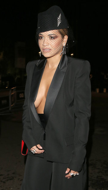 Rita Ora attends the GQ Men Of The Year Awards at Tate Modern on September 5, 2017 in London, England. (Photo by WeirPhotos/Splash News and Pictures)