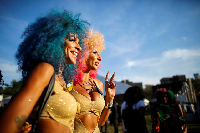 People take part in the Annual Afropunk Music festival in the borough of Brooklyn in New York, U.S., August 27, 2016. (Photo by Eduardo Munoz/Reuters)