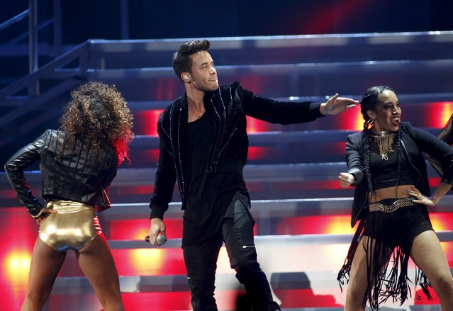 Prince Royce performs during the second night of the 2015 iHeartRadio Music Festival at the MGM Grand Garden Arena in Las Vegas, Nevada September 19, 2015. (Photo by Steve Marcus/Reuters)