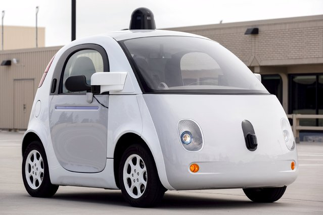 A prototype of Goodle's own self-driving vehicle is seen during a media preview of Google's prototype autonomous vehicles in Mountain View, California September 29, 2015. (Photo by Elijah Nouvelage/Reuters)