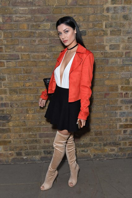 Cally Jane Beech attend the April Banbury catwalk show at Devonshire Square on September 18, 2016 in London, England. (Photo by Andy Oliver/GoffPhotos.com)