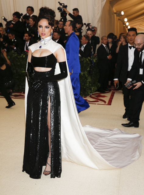 Eiza Gonzalez attends The Metropolitan Museum of Art's Costume Institute benefit gala celebrating the opening of the Heavenly Bodies: Fashion and the Catholic Imagination exhibition on Monday, May 7, 2018, in New York. (Photo by Carlo Allegri/Reuters)