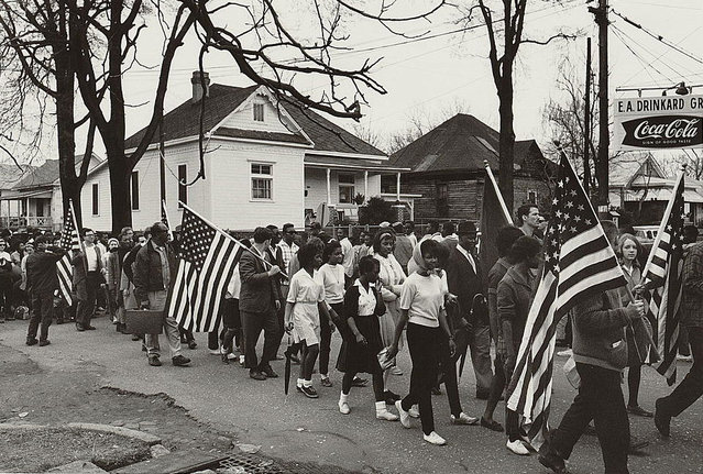 Participants marching in a civil rights march from Selma to Montgomery, Alabama, 1965. (Photo by Reuters/Library of Congress)