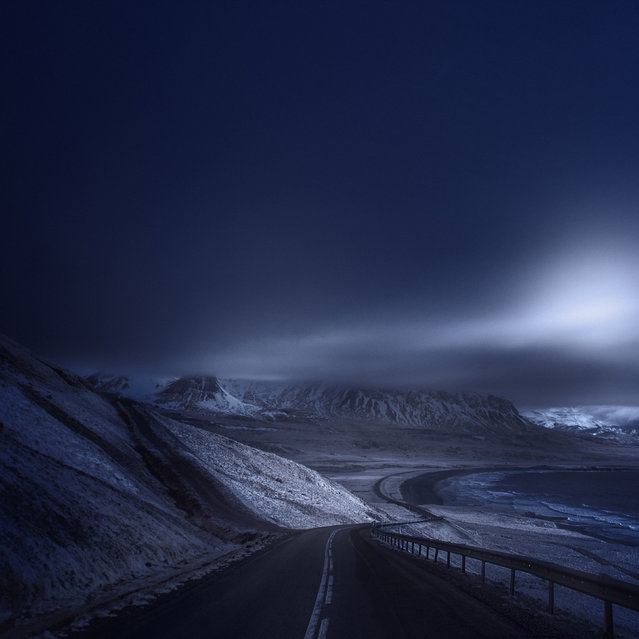 A quiet road through Snaefellsnes, Peninsula. (Photo by Andy Lee/Caters News)