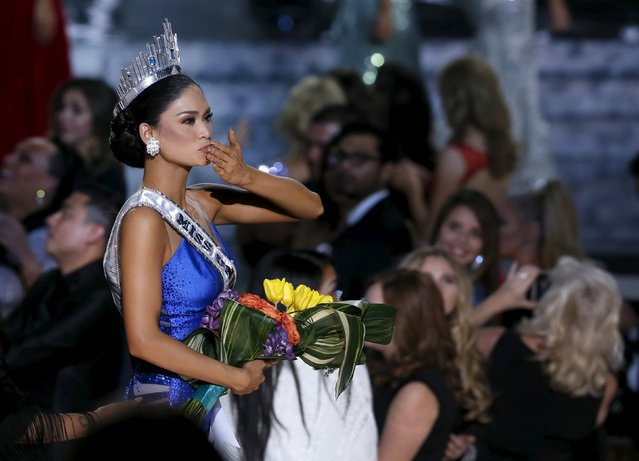 Miss Philippines Pia Alonzo Wurtzbach blows a kiss after being crowned Miss Universe during the 2015 Miss Universe Pageant in Las Vegas, Nevada December 20, 2015. (Photo by Steve Marcus/Reuters)